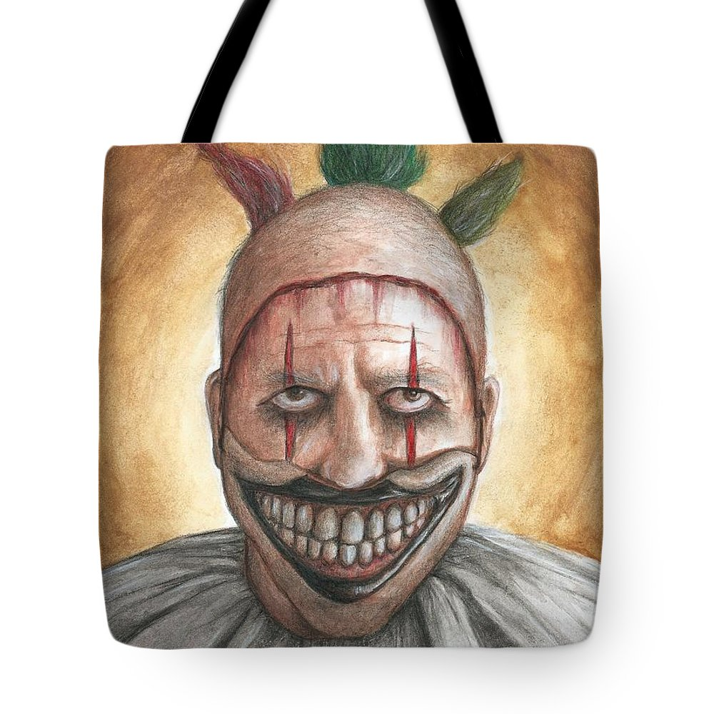 Clown Tote Bag featuring the painting Twisty by Bruce Lennon