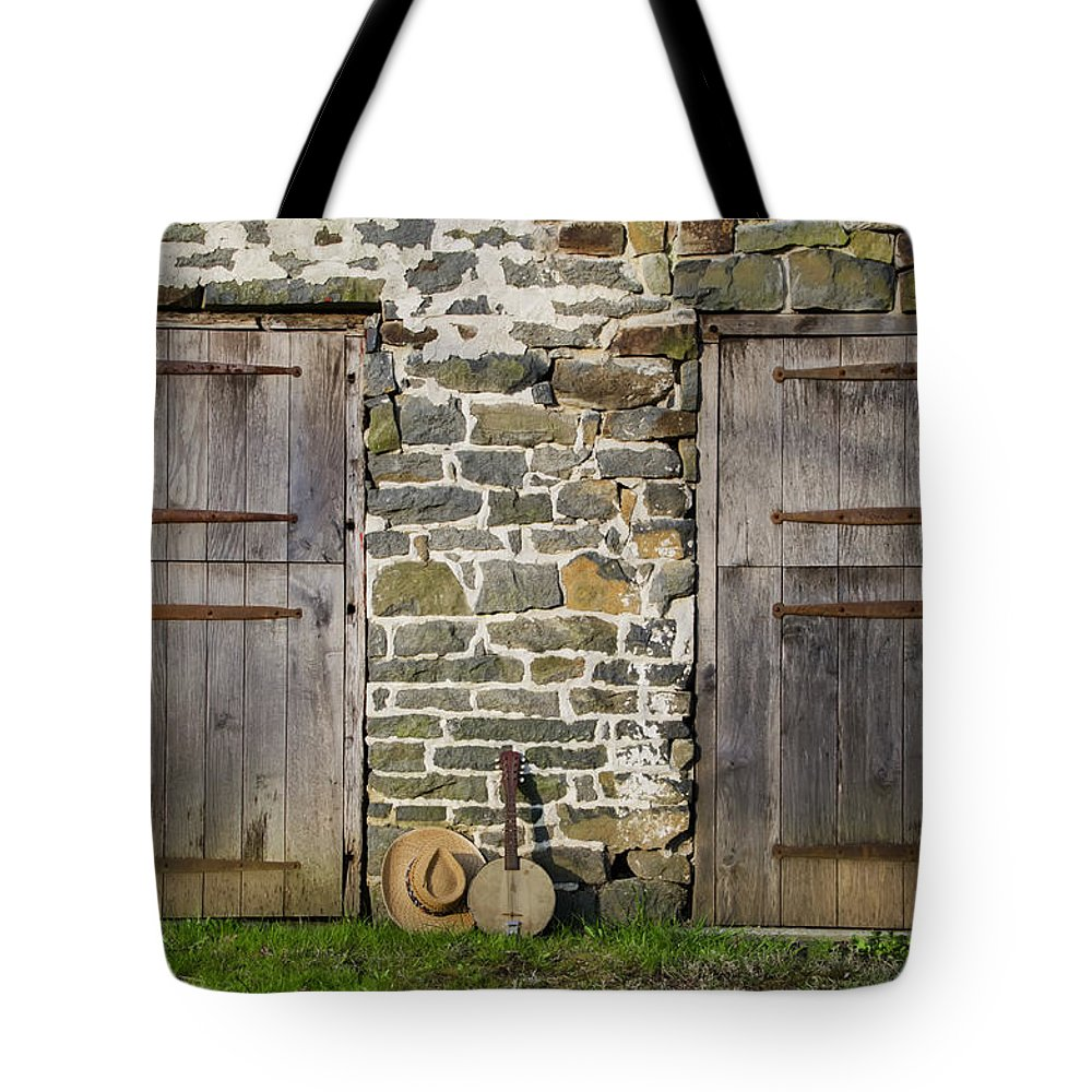 Two Tote Bag featuring the photograph Two Doors On A Barn by Bill Cannon