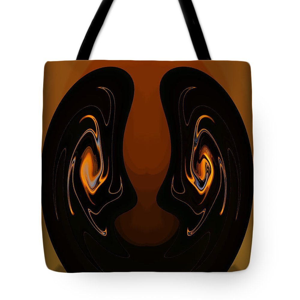 Digital Art Tote Bag featuring the photograph Two Faces by Athala Carole Bruckner