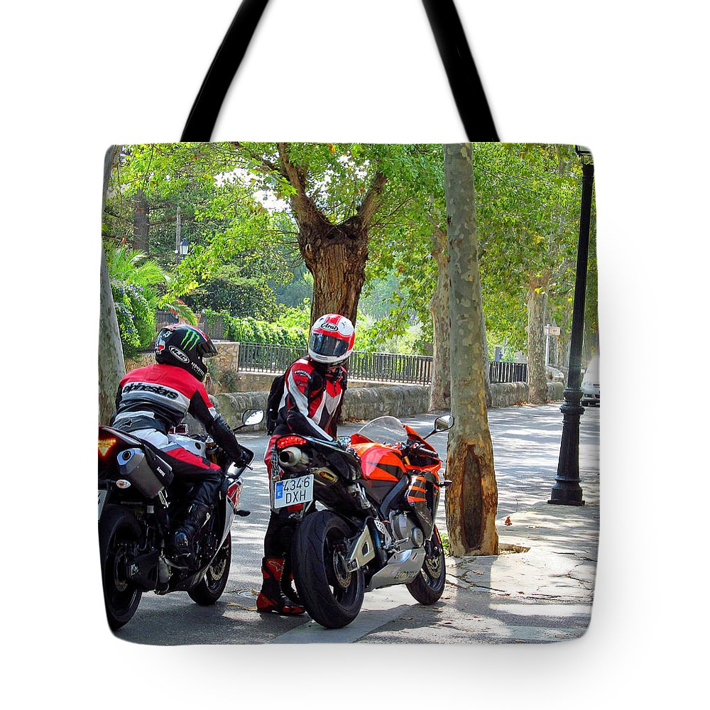 Tote Bag featuring the photograph Two For The Road by Tina M Wenger