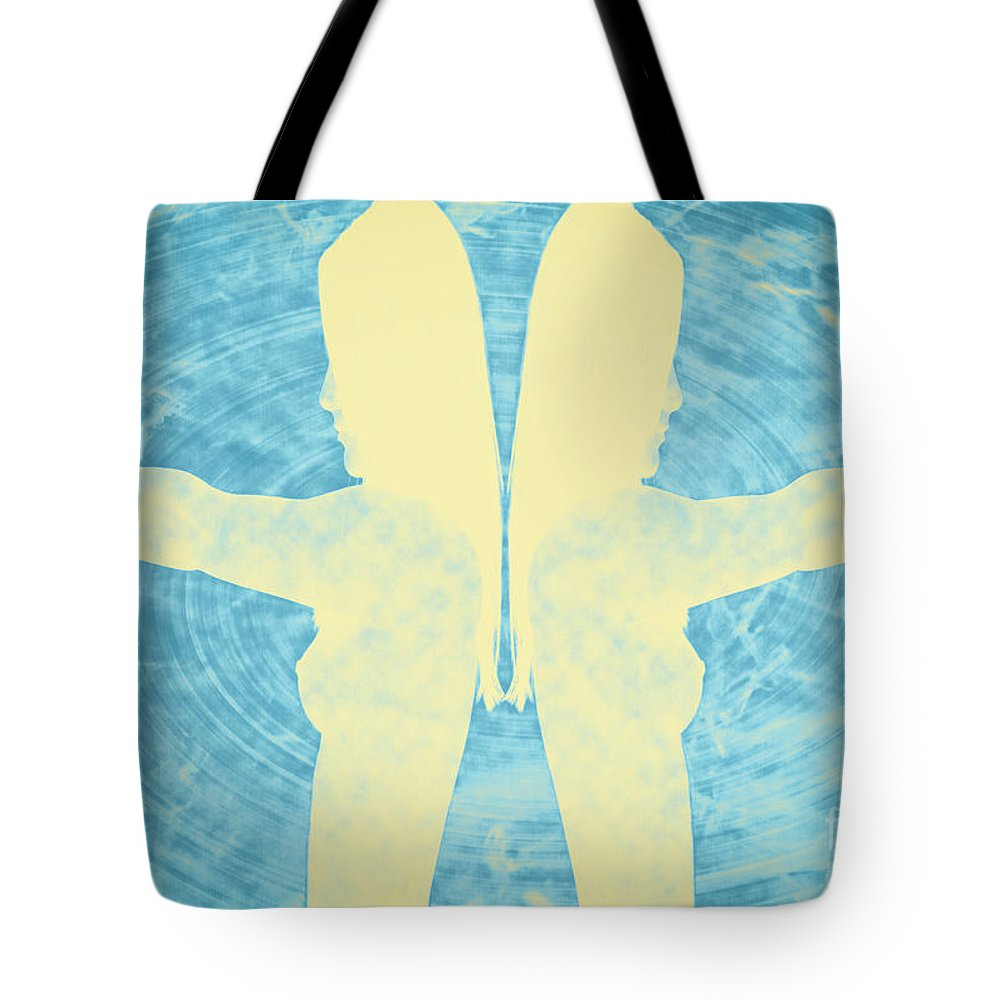 Dangerous Tote Bag featuring the photograph Two Guns by Digital Kulprits