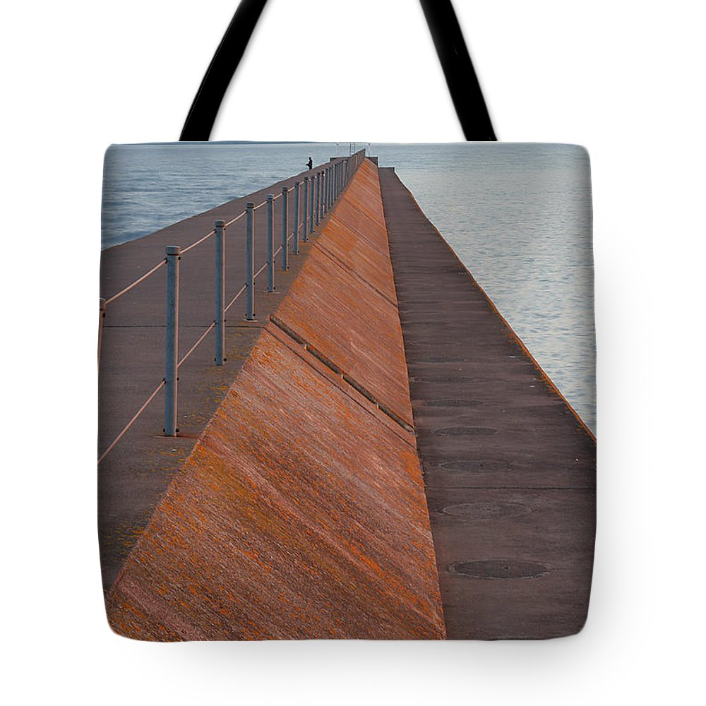 Two Tote Bag featuring the photograph Two Harbors Mn Pier Light 6 by John Brueske