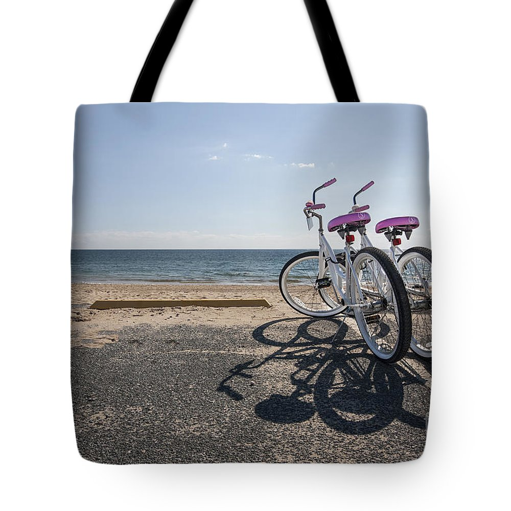 Provincetown Tote Bag featuring the photograph Two If By The Sea by Evelina Kremsdorf