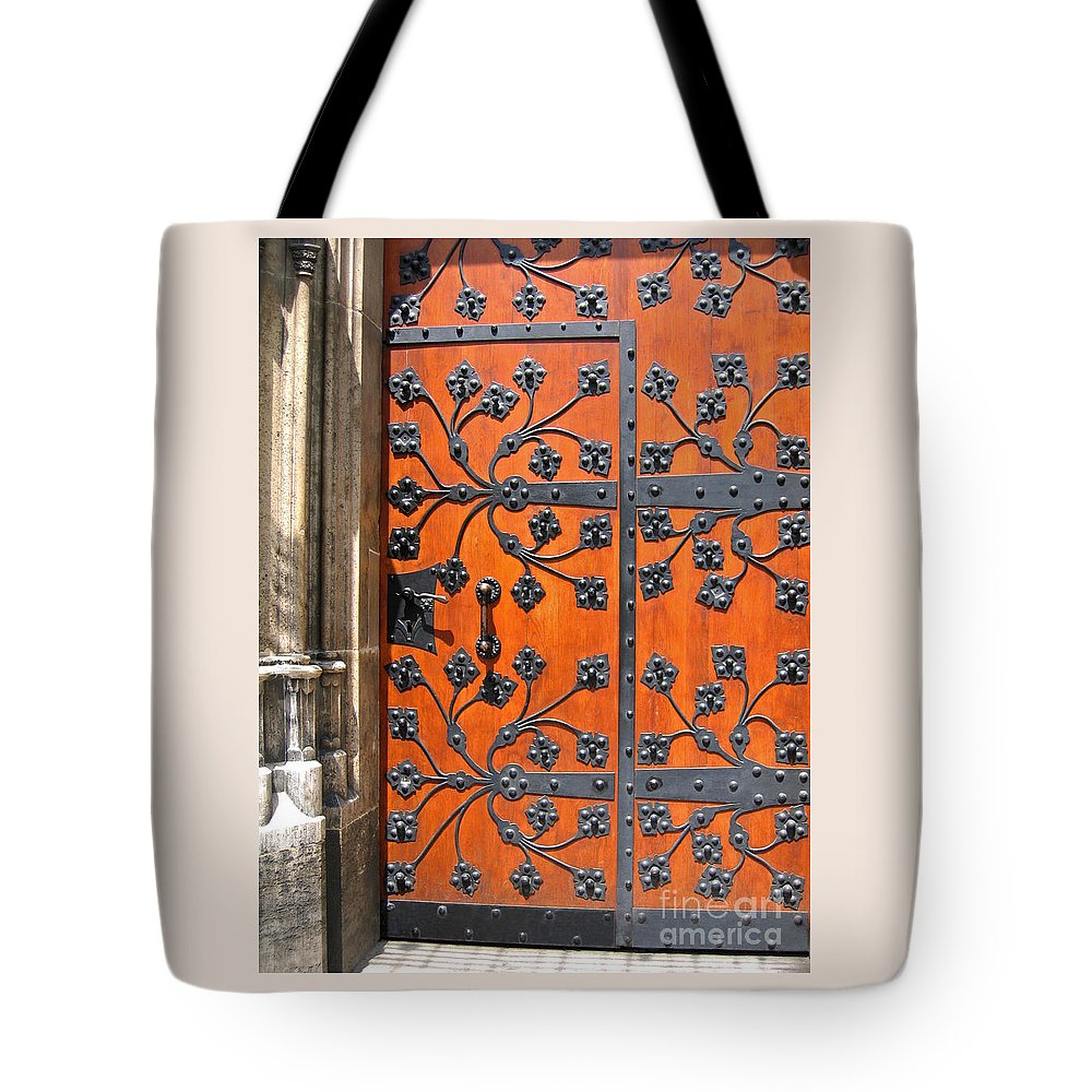 Door Tote Bag featuring the photograph Two In One by Ann Horn