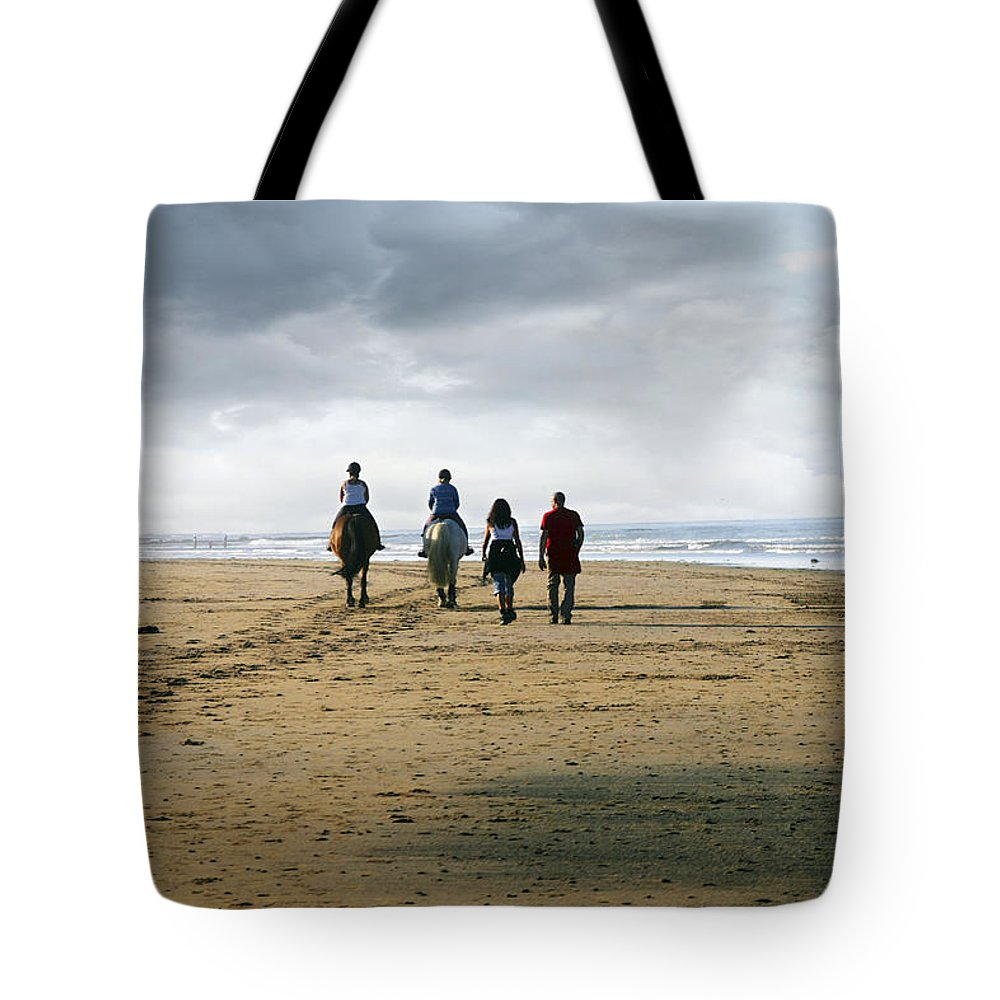 Uk Tote Bag featuring the photograph Two Legs Four Legs by Christopher Rees