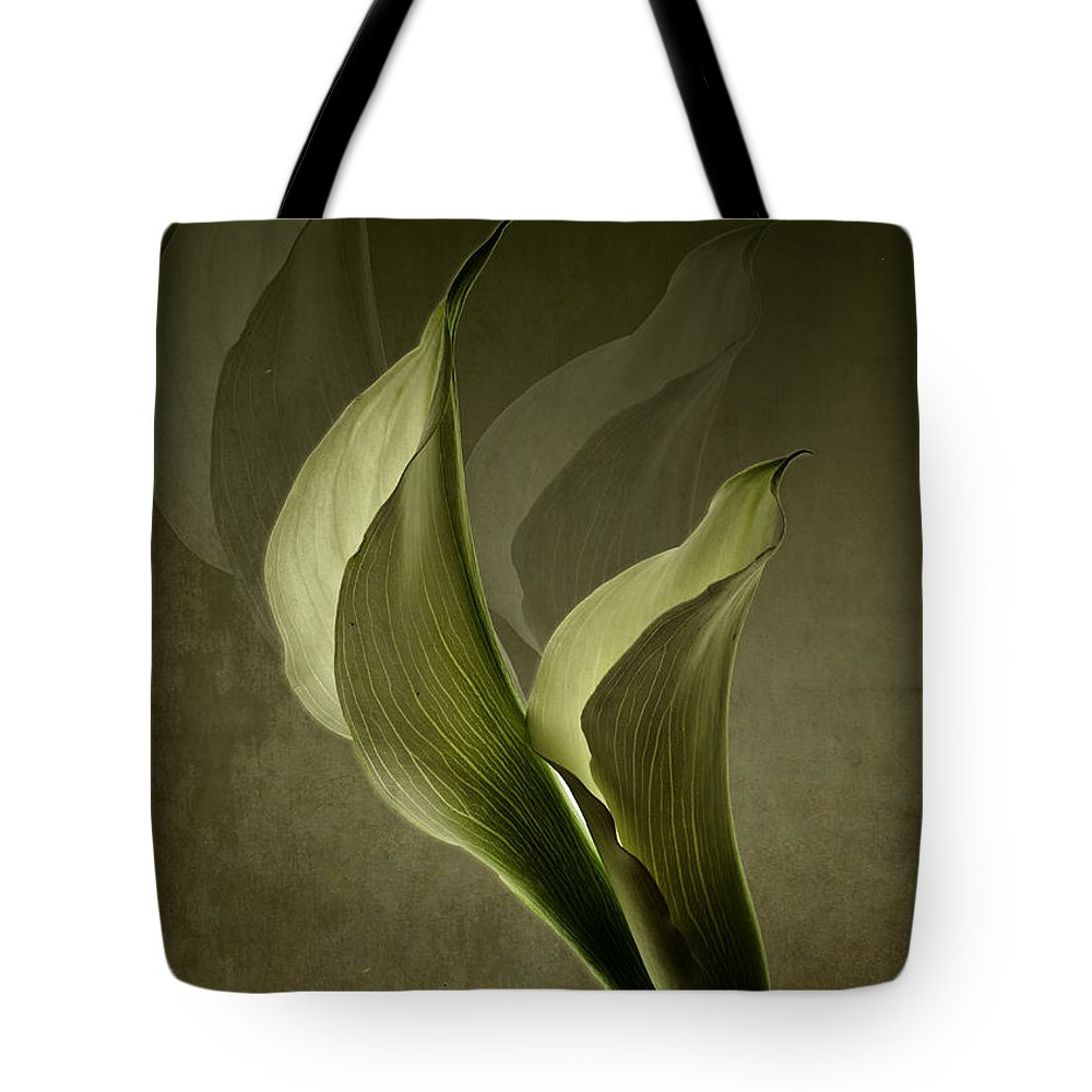 Flower Tote Bag featuring the photograph Two Lilly Fantasy by Bruce Bain