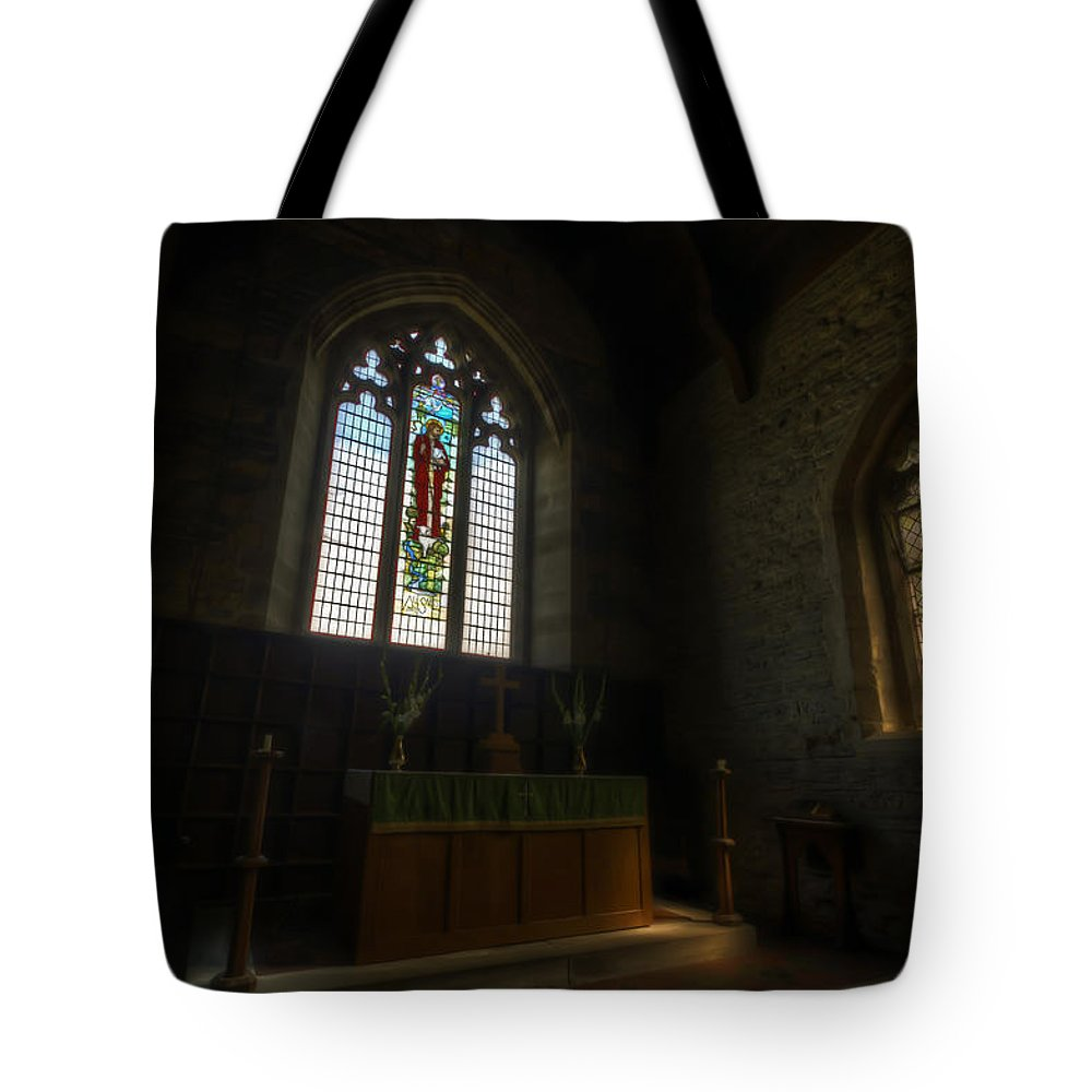 Ancient Tote Bag featuring the digital art Two Old Windows by Nathan Wright