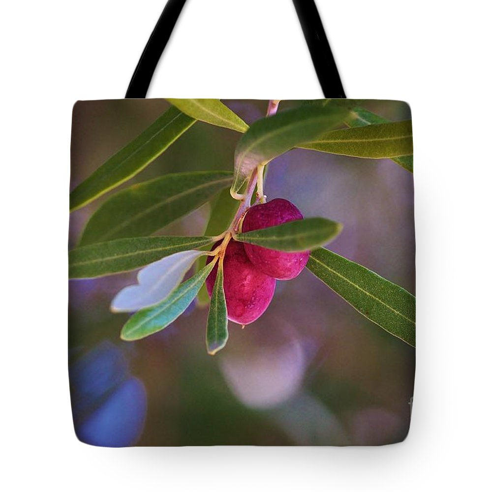 Olives Tote Bag featuring the photograph Two Olives Please by Marcia Breznay