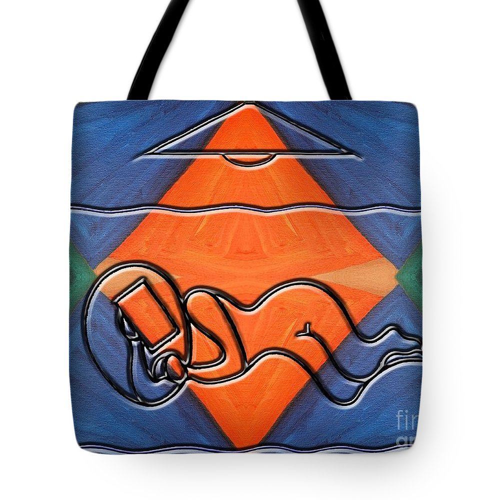 Bed Tote Bag featuring the painting Bedroom by Patrick J Murphy