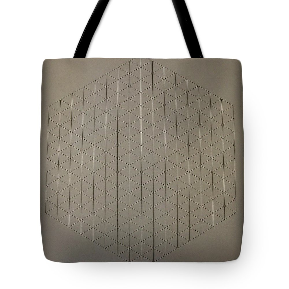 Math Tote Bag featuring the drawing Two To The Power Of Nine Or Eight Cubed by Jason Padgett