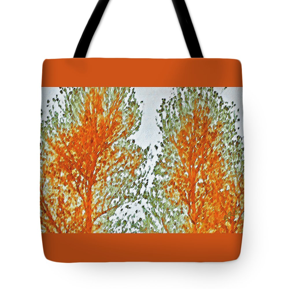 Tree Top Tote Bag featuring the photograph Two Trees by Ben and Raisa Gertsberg