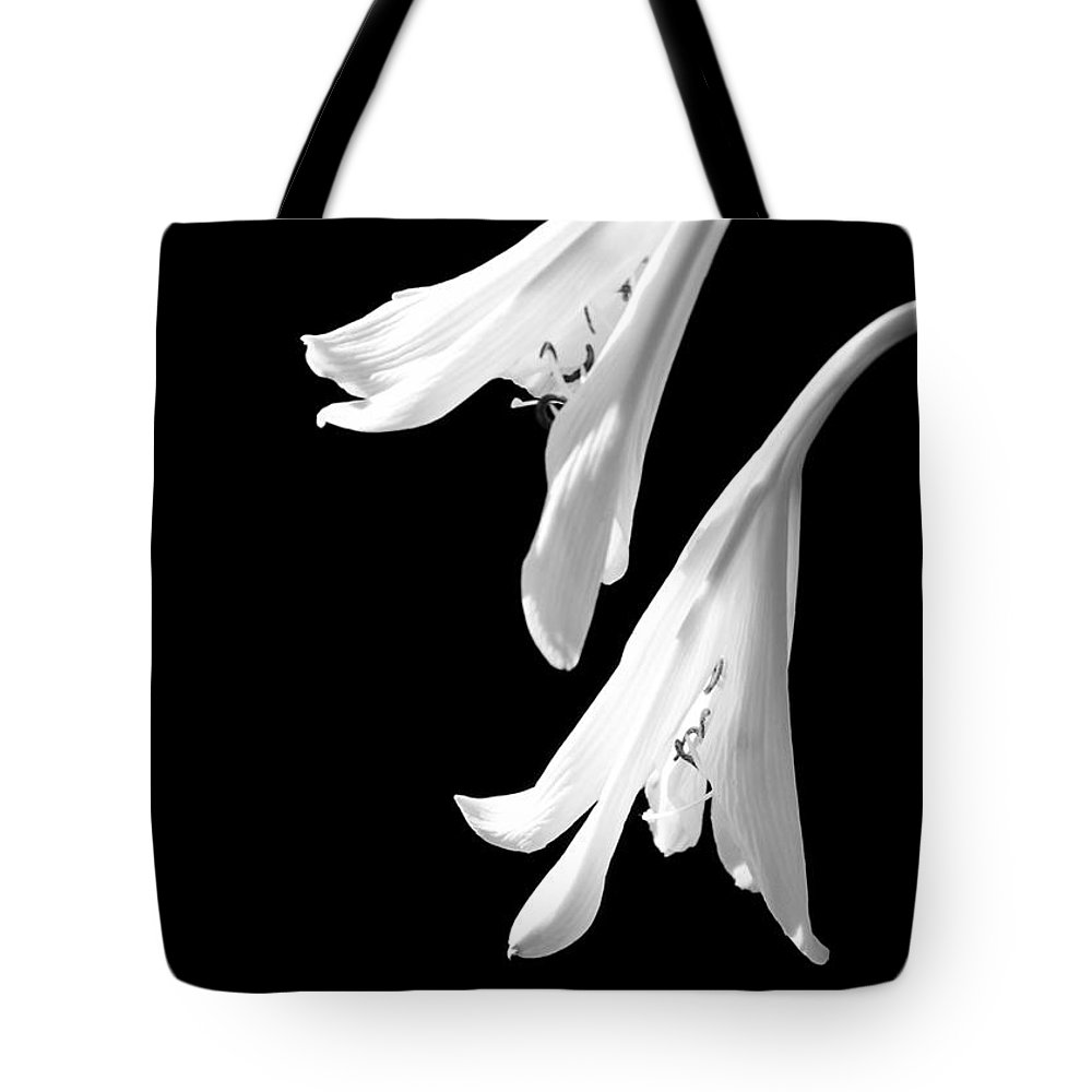 Art Tote Bag featuring the photograph Two White Lilies by Sabrina L Ryan