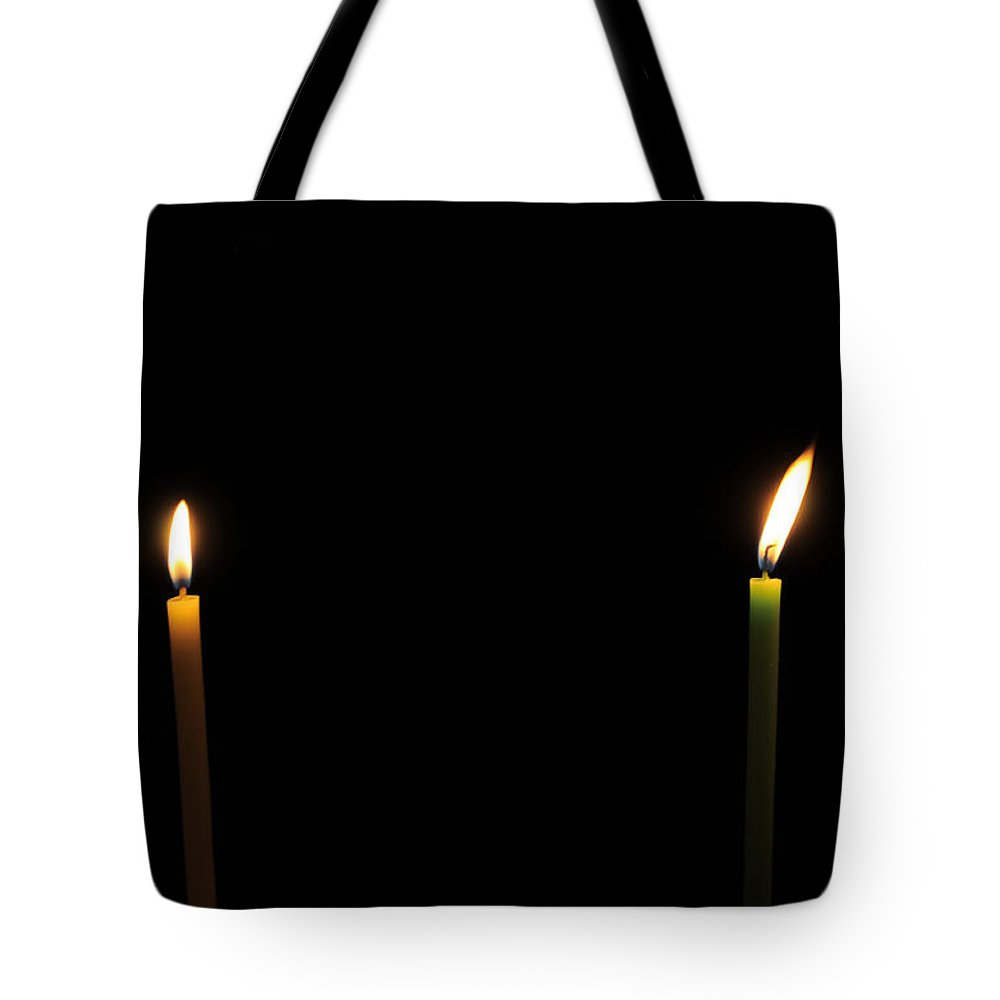 Light Tote Bag featuring the photograph Twosome In Dark by Bliss Of Art