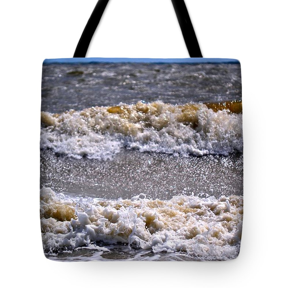 Tybee Island Tote Bag featuring the photograph Tybee Waves by Tara Potts