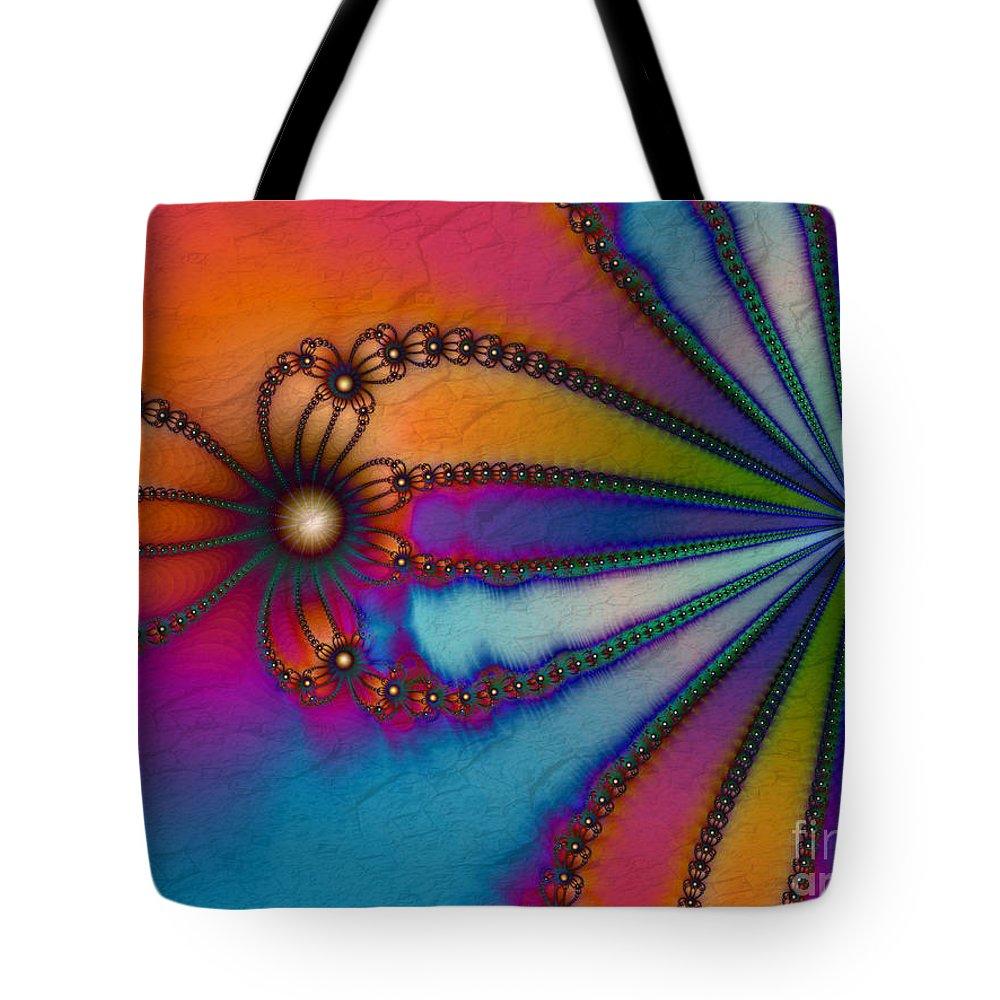 Tye Dye Tote Bag featuring the digital art Tye Dye by Kimberly Hansen