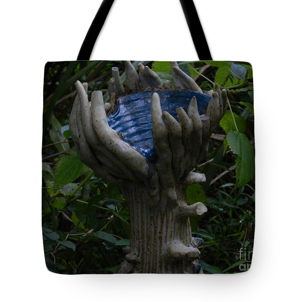 Tyler Arboretum Statue Pennsylvania Tote Bag featuring the photograph Tyler Statues 1 by Heather Jane