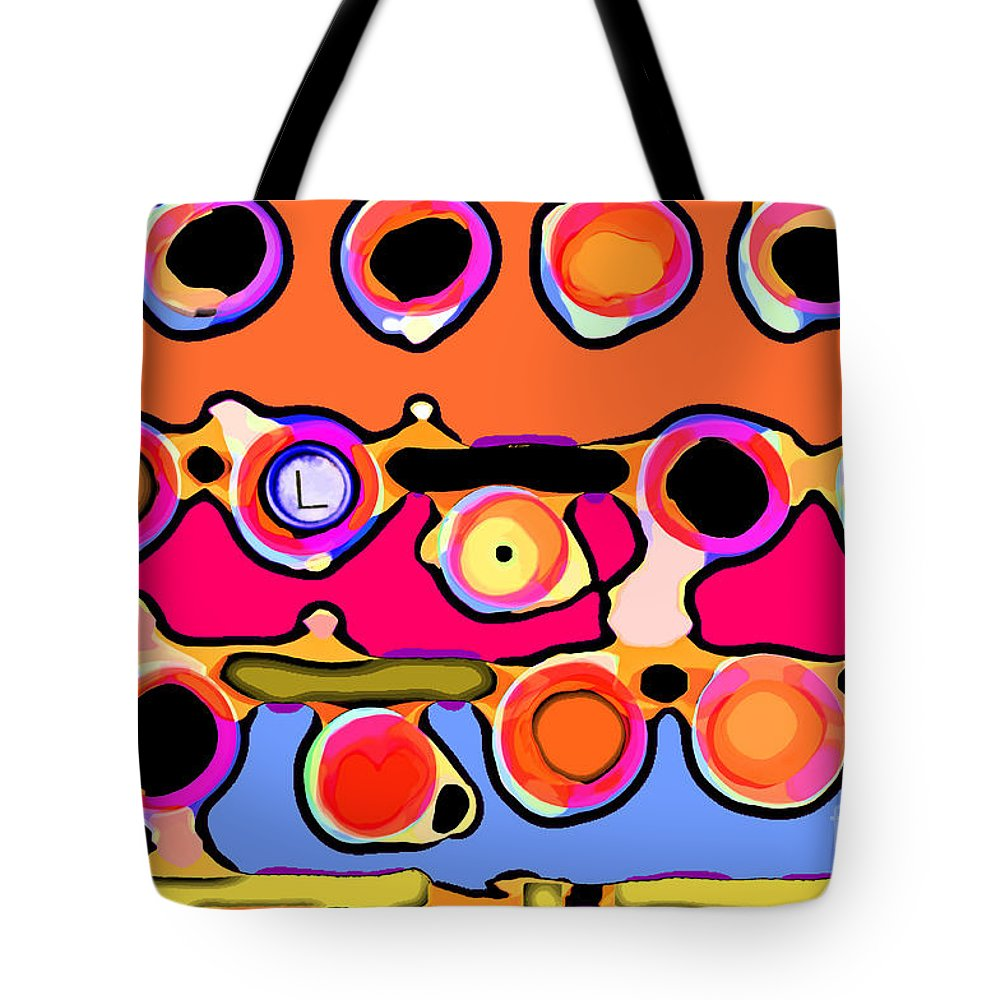 Abstract Tote Bag featuring the digital art Typing by Gwyn Newcombe