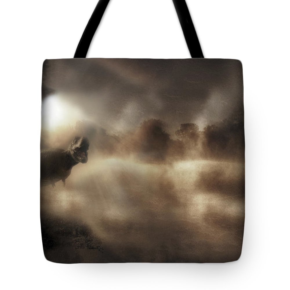 Tyrannosaurus Rex Tote Bag featuring the photograph Tyrant Lizard King - Tyrannosaurus Rex - Dinosaur by Jason Politte