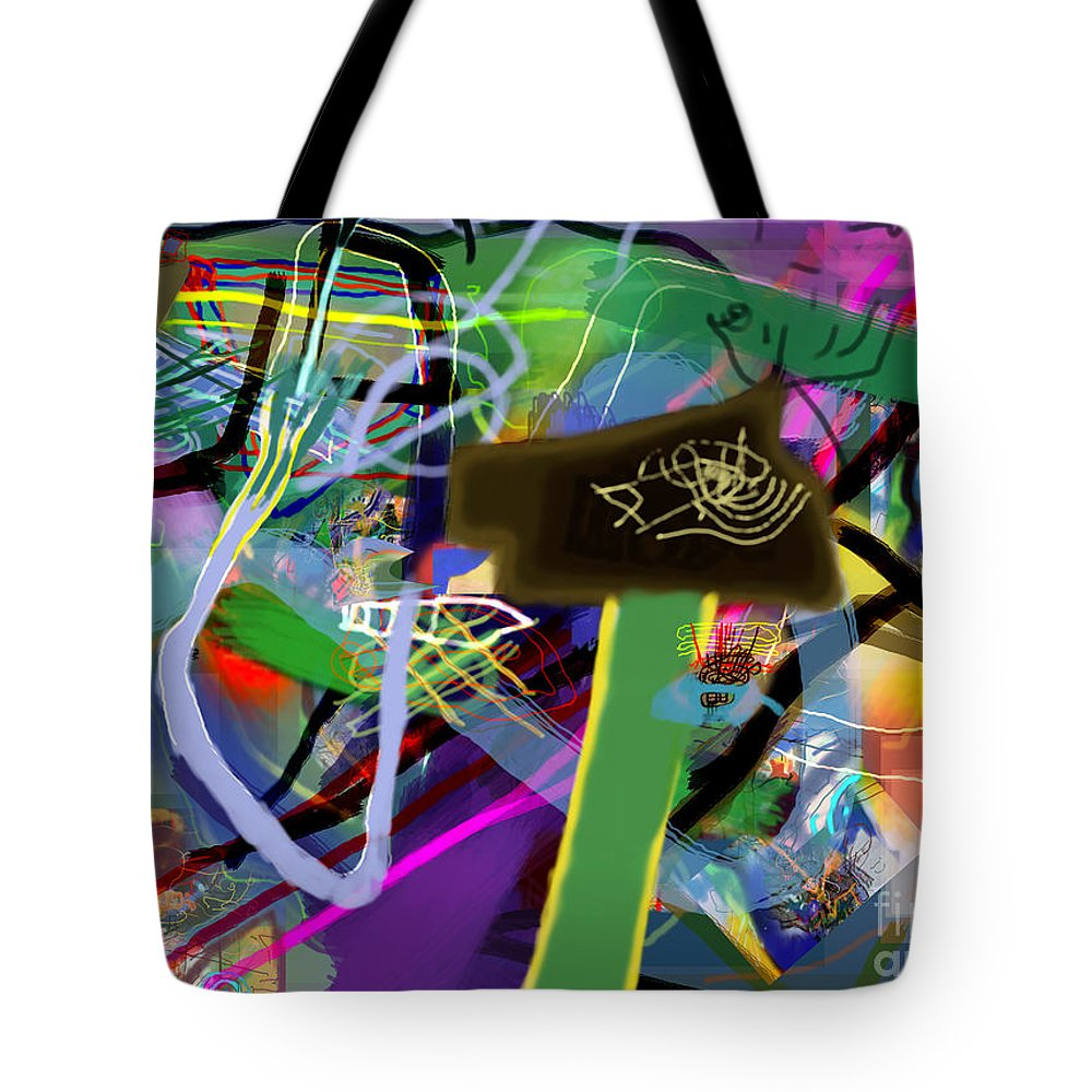 Torah Tote Bag featuring the digital art Tzaddik 6g by David Baruch Wolk