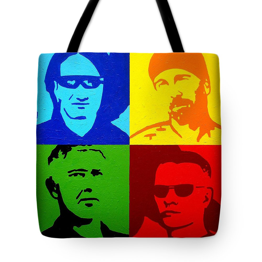 Acrylic Tote Bag featuring the painting U2 by John Nolan