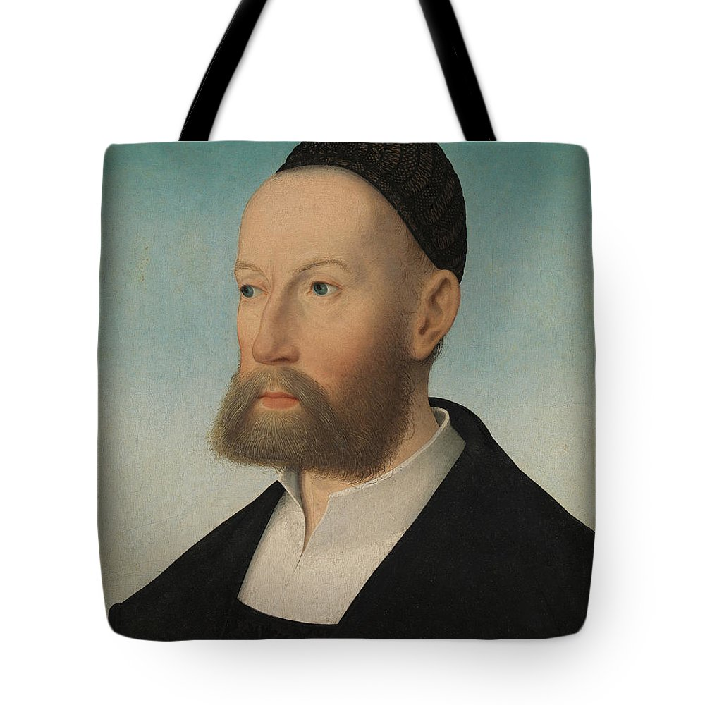 Hans Maler Tote Bag featuring the painting Ulrich Fugger by Hans Maler
