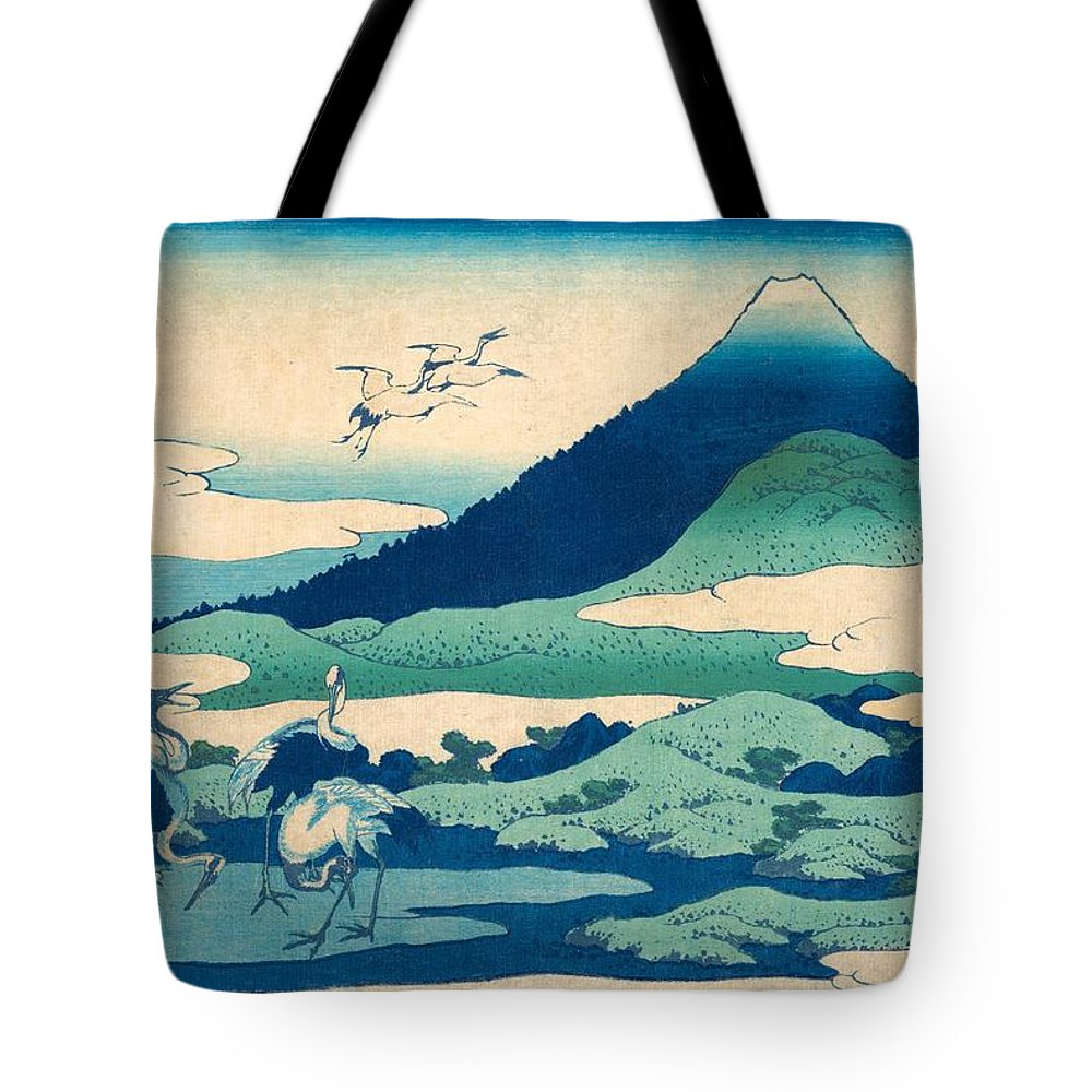 1830-1832 Tote Bag featuring the painting Umezawa Manor In Sagami Province by Katsushika Hokusai