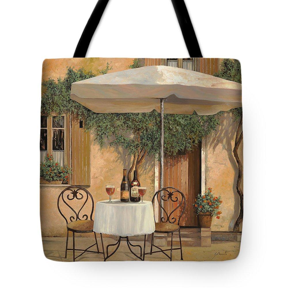 Chianti Tote Bag featuring the painting Un Altro Bicchiere Prima Di Pranzo by Guido Borelli