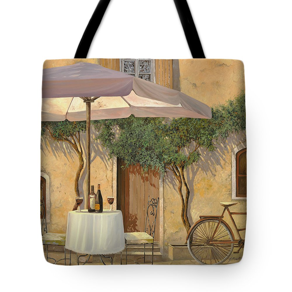 Courtyard Tote Bag featuring the painting Un Ombra In Cortile by Guido Borelli