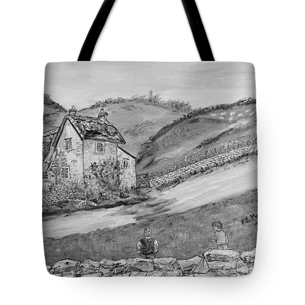 �black And White� Tote Bag featuring the painting Un Pomeriggio D'estate by Loredana Messina