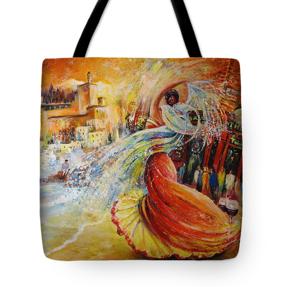 Travel Tote Bag featuring the painting Una Vida by Miki De Goodaboom
