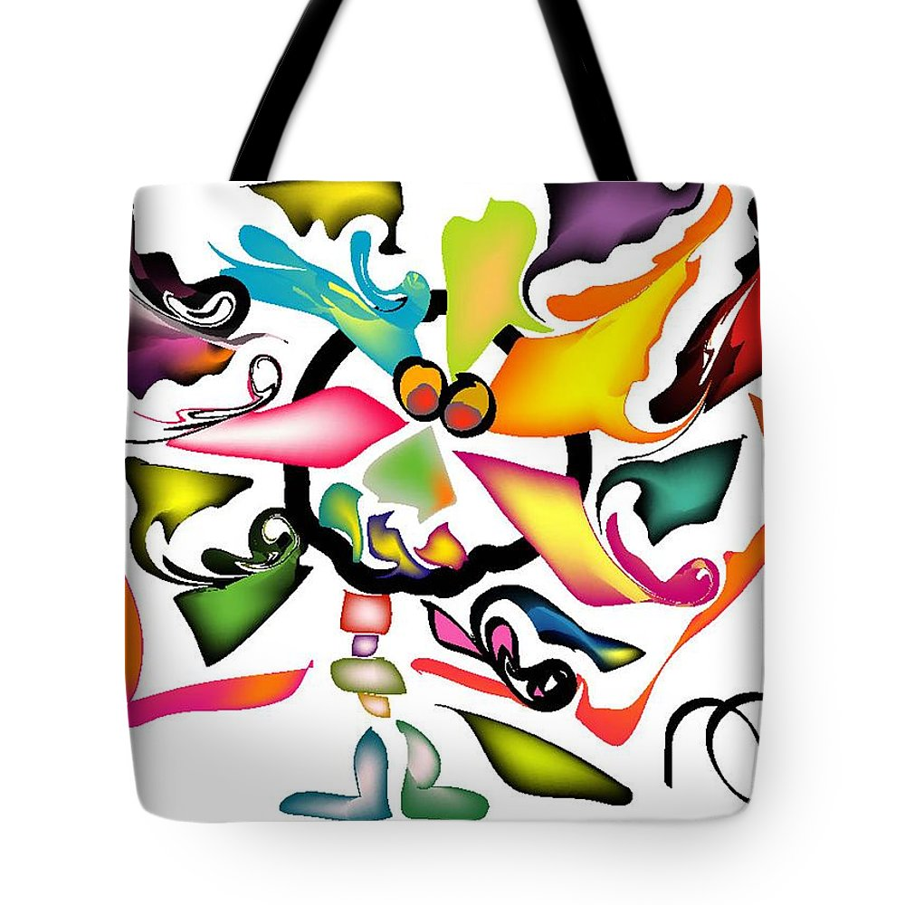Life's Crazy Tote Bag featuring the digital art Uncle Bunny by Andy Cordan