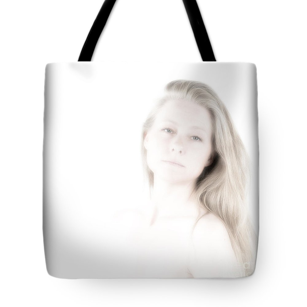 Festblues Tote Bag featuring the photograph Unclear Visions.. by Nina Stavlund