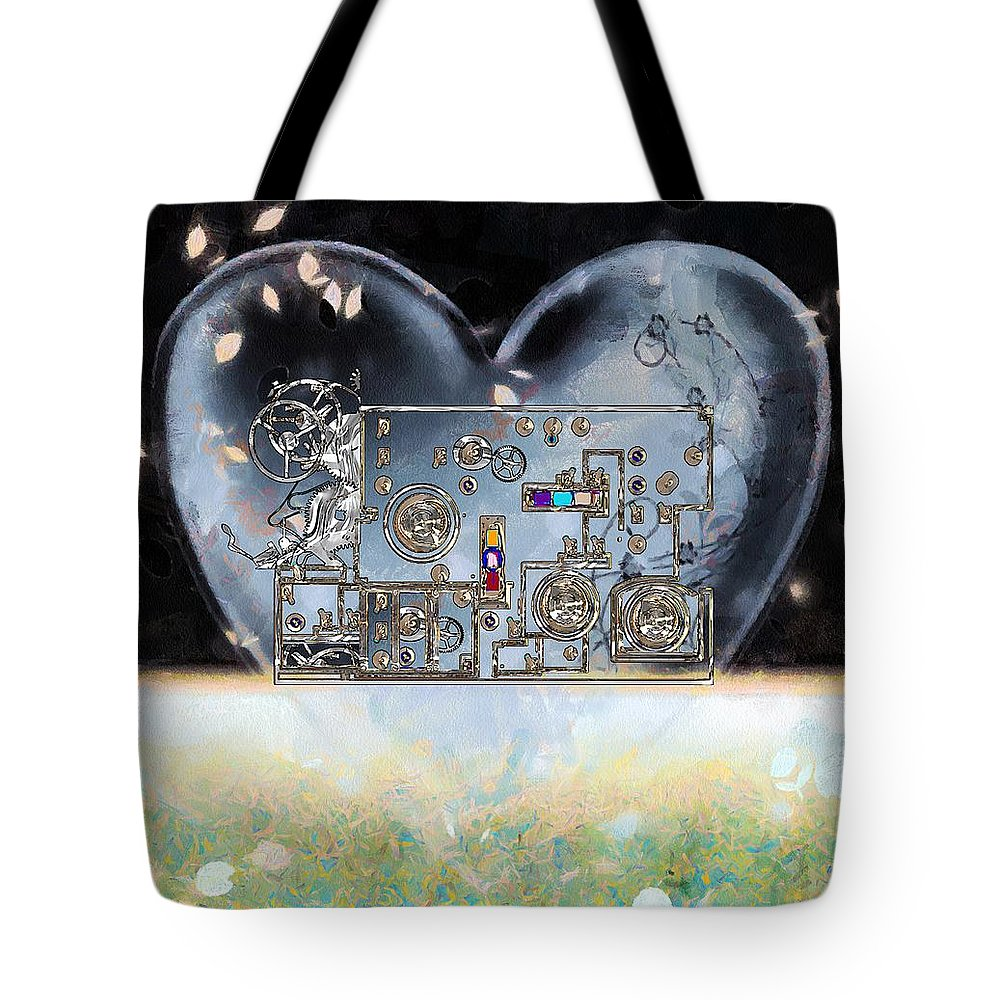 Steampunk Tote Bag featuring the painting Under Control by RC DeWinter