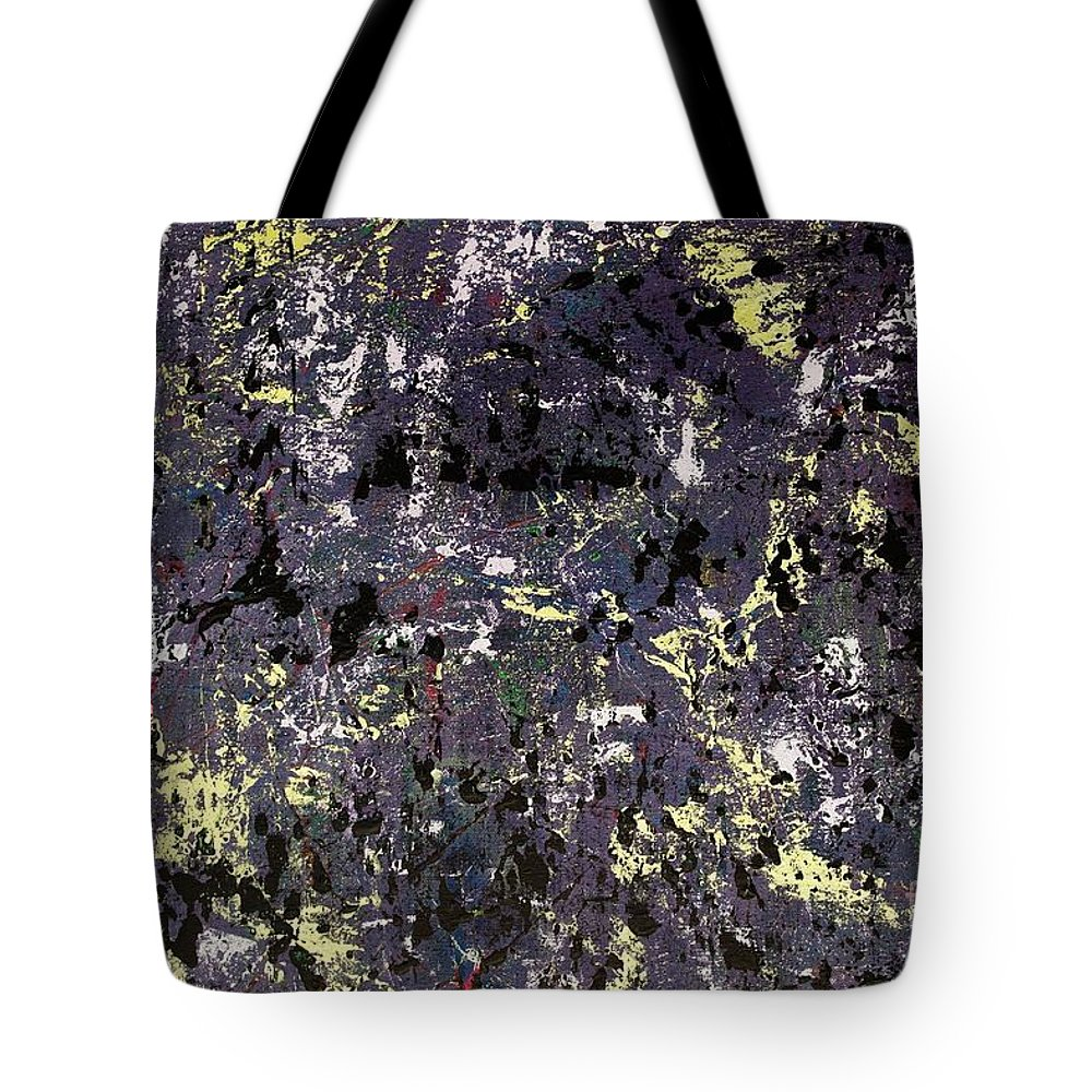 Abstract Tote Bag featuring the painting Under Cover by Wayne Cantrell