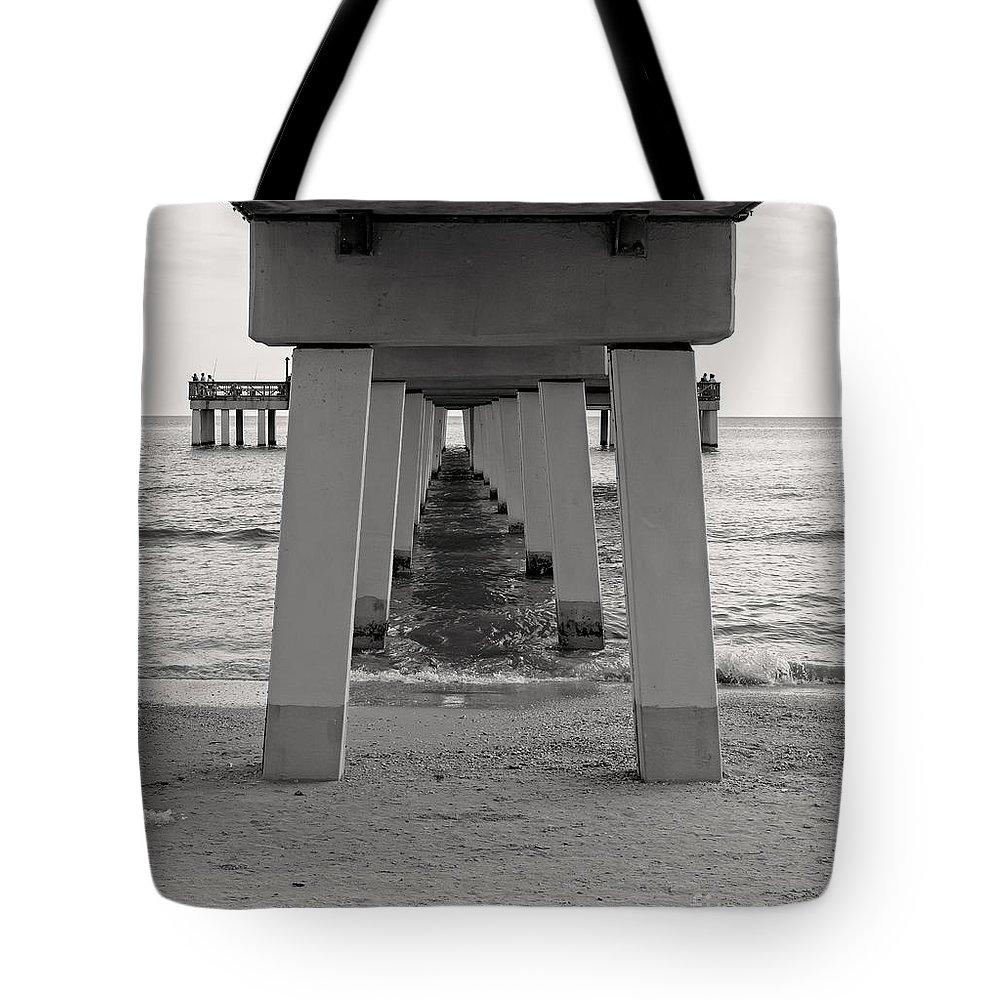Boardwalk Tote Bag featuring the photograph Under The Boardwalk by Edward Fielding
