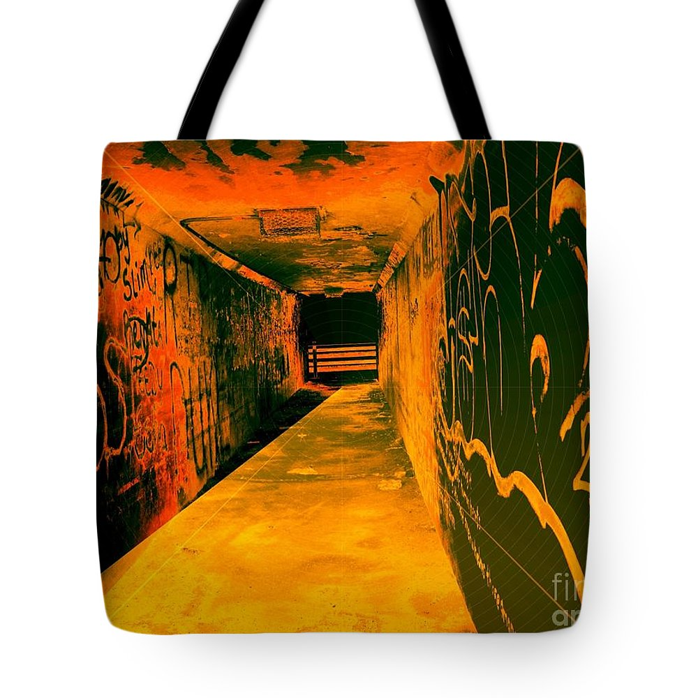 Tunnel Tote Bag featuring the photograph Under The Bridge by Ze DaLuz