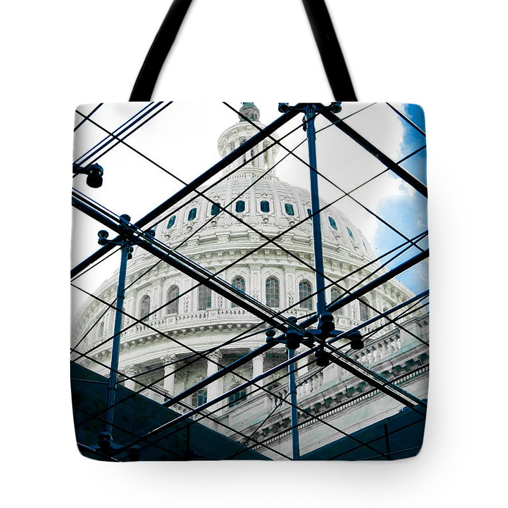 Arlington Cemetery Tote Bag featuring the photograph Under The Dome by Greg Fortier
