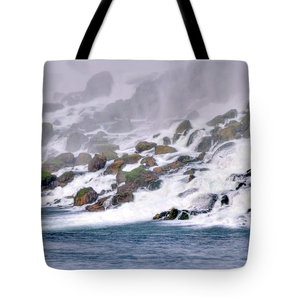 Tote Bag featuring the photograph Under The Falls by Kathleen Struckle