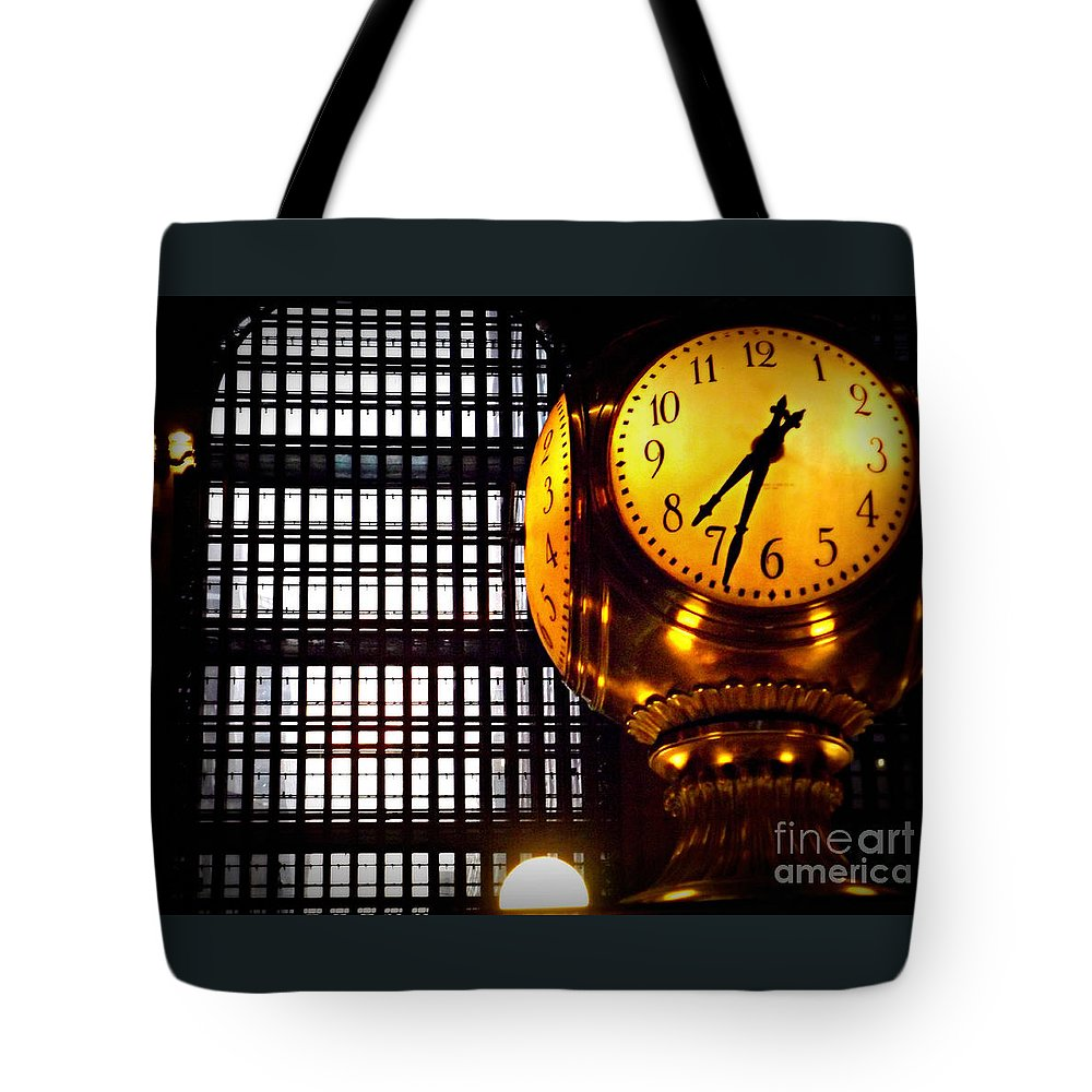 Grand Central Tote Bag featuring the photograph Under The Famous Clock by Miriam Danar
