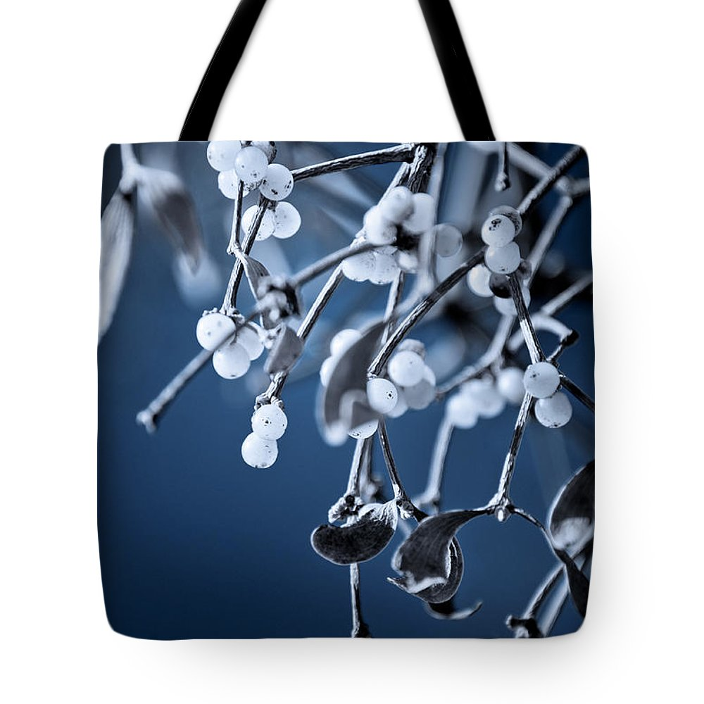 Loriental Tote Bag featuring the photograph Under The Mistletoe by Loriental Photography