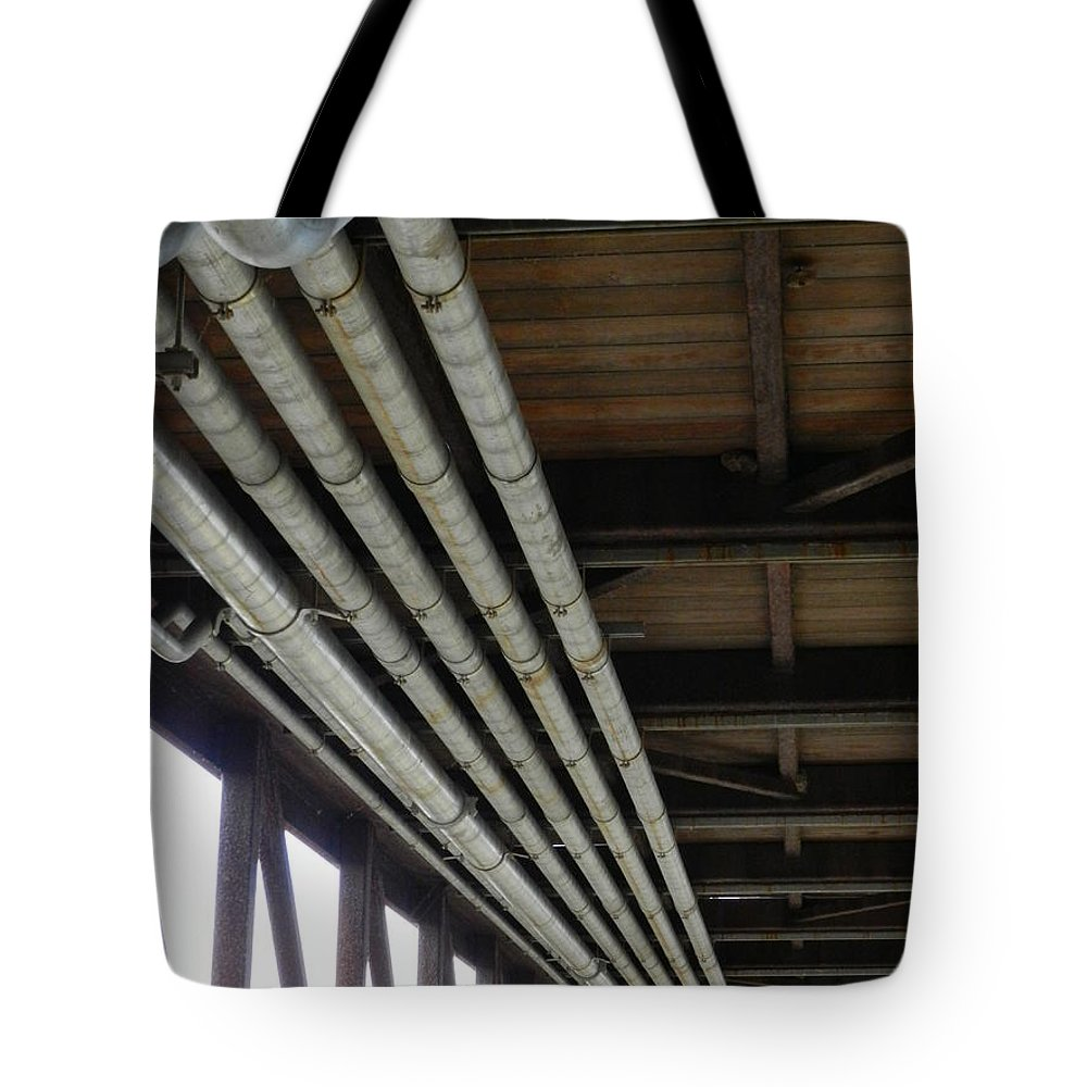 Wilmington Tote Bag featuring the photograph Under The Riverfront 3 by Heather Jane