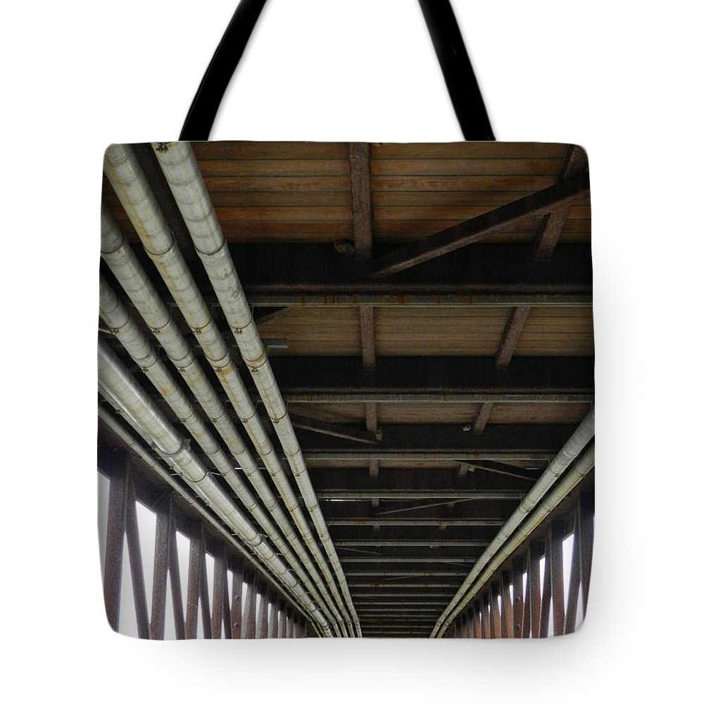 Wilmington Tote Bag featuring the photograph Under The Riverfront 5 by Heather Jane