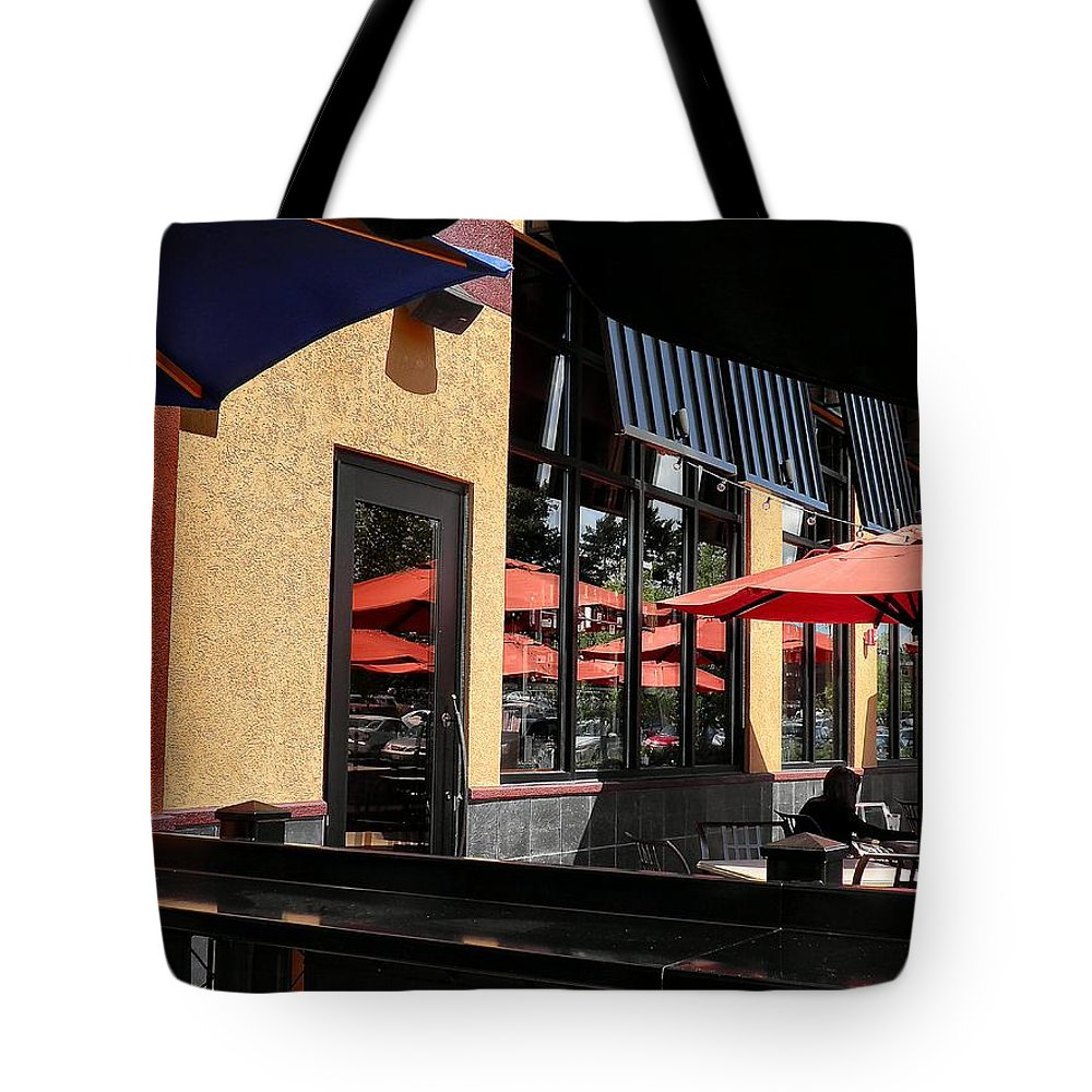 Photograph Tote Bag featuring the photograph Under The Umbrella by T Cook