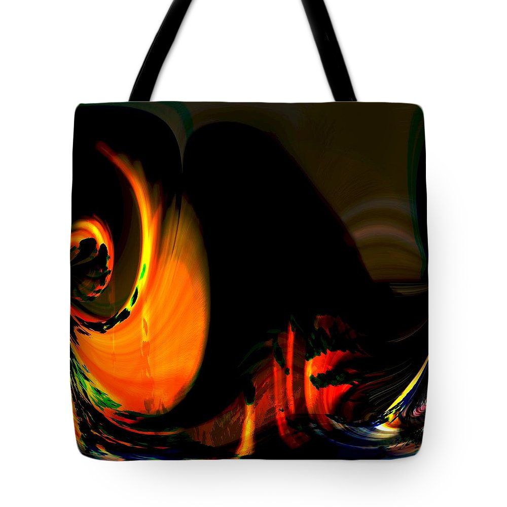Abstract Tote Bag featuring the photograph Under The Volcano by Richard Thomas