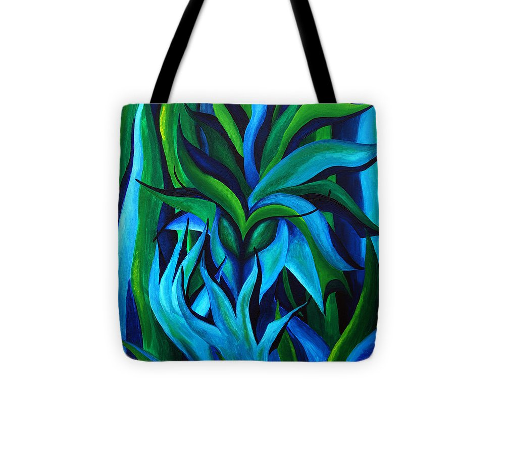 Alien Tote Bag featuring the painting Under Water by Judith Groeger