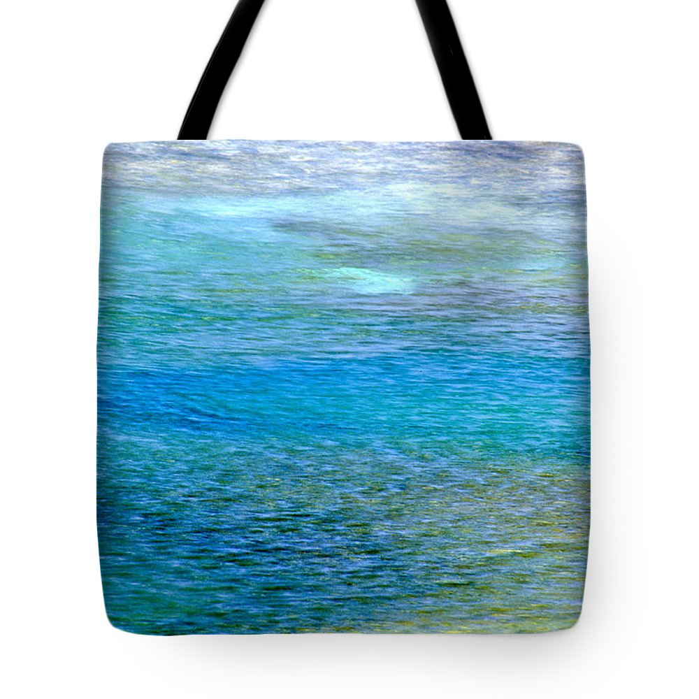Yellowstone National Park Tote Bag featuring the photograph Underwater Colors by Sharon M Connolly