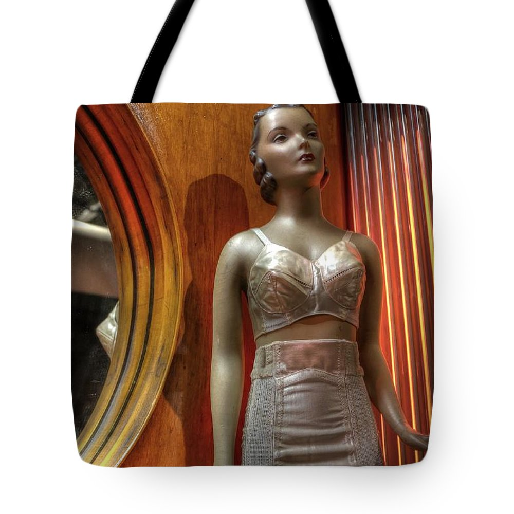 Bra Tote Bag featuring the photograph Underwear Model by Jane Linders