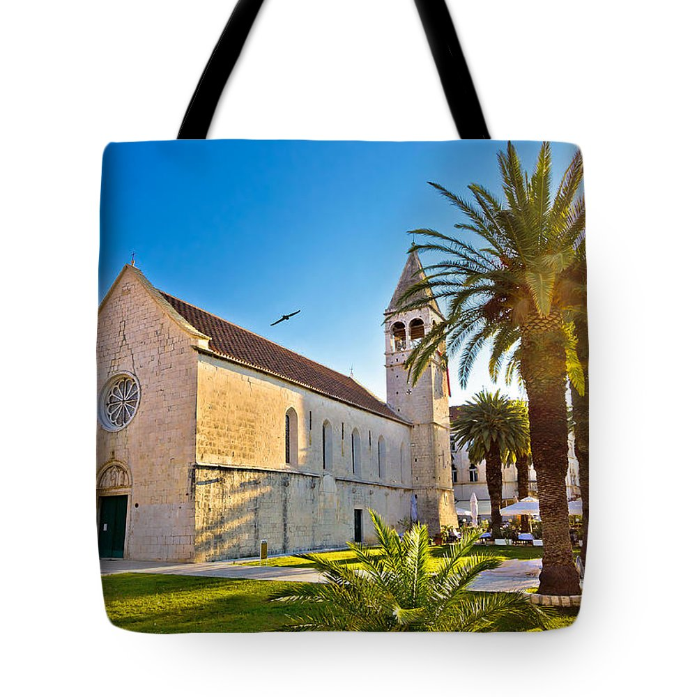 Croatia Tote Bag featuring the photograph Unesco Town Of Trogir Church View by Brch Photography