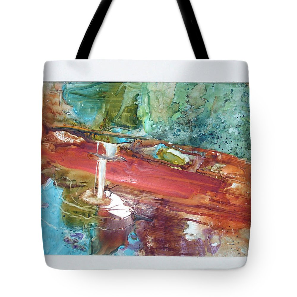 Tote Bag featuring the painting Unexpected Stillness by Keith Thue
