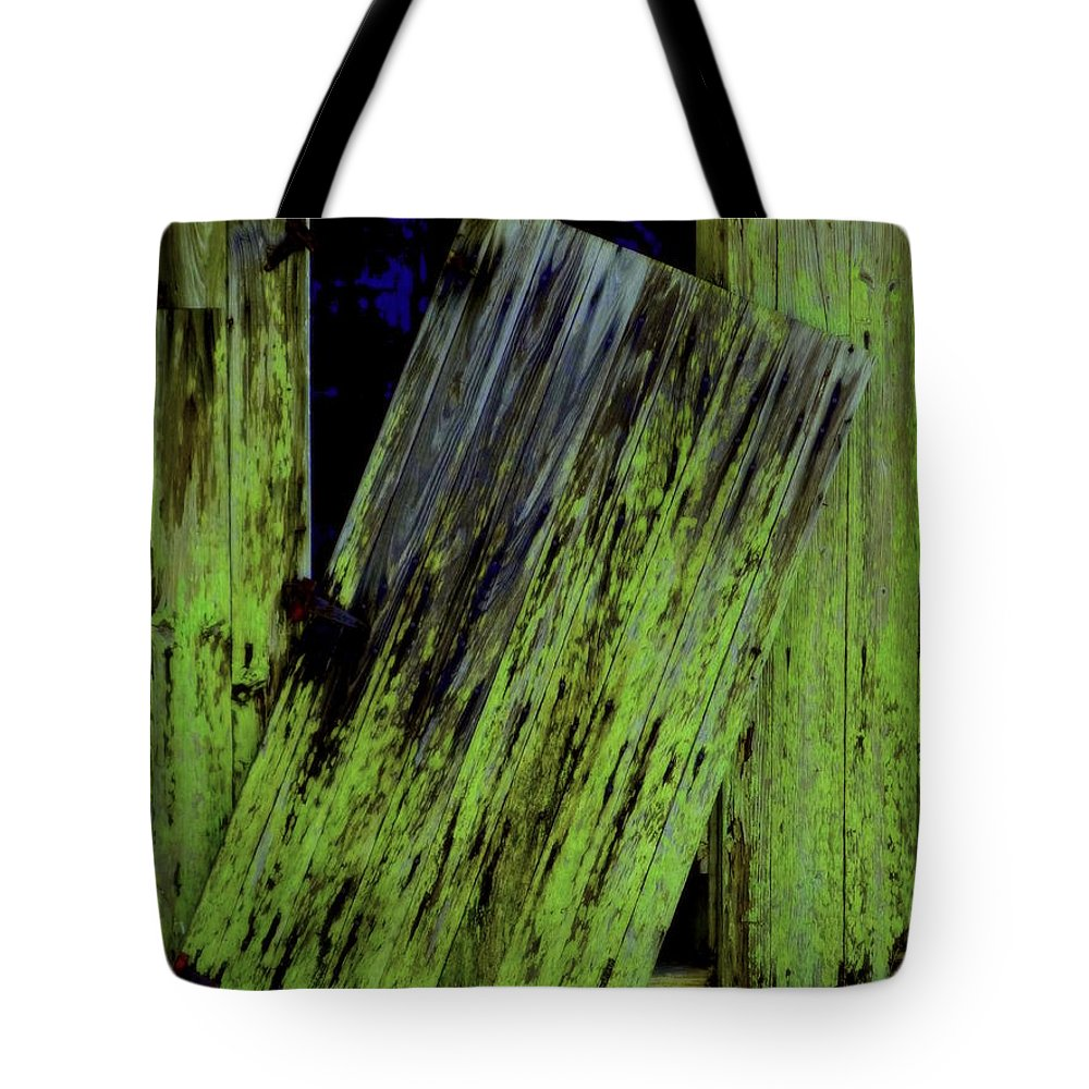 Old Tote Bag featuring the photograph Unhinged by Deborah Crew-Johnson
